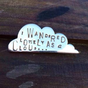 Brooch - BR04 - Silver ' lonely as a cloud' brooch