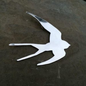 Brooch - BR06 - Silver swallow brooch